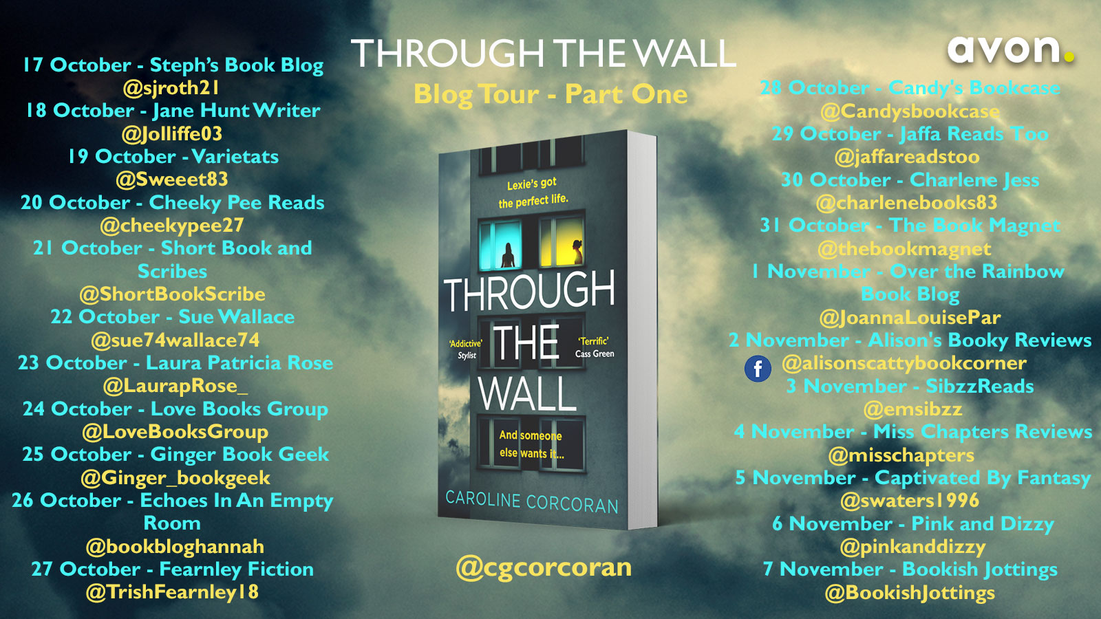 Through the Wall blog tour banner
